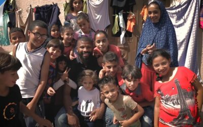 'PEOPLE'S CHAMPION' Two-weight king Badou Jack visits Al Baqaa refugee camp in Jordan