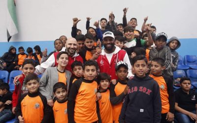 Badou Jack Visits Refugee Camp in Jordan, Gives Back To Kids