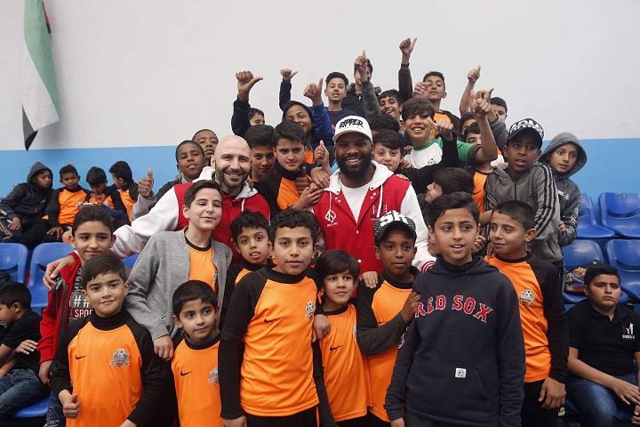 Badou Jack Visits Refugee Camp in Jordan, Gives Back To Kids